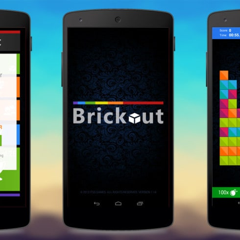 Gra logiczna Brickout Android