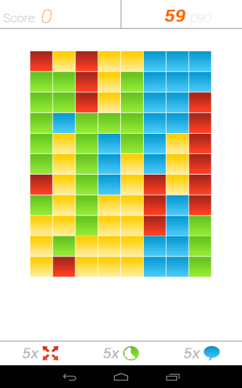Android matching colors game