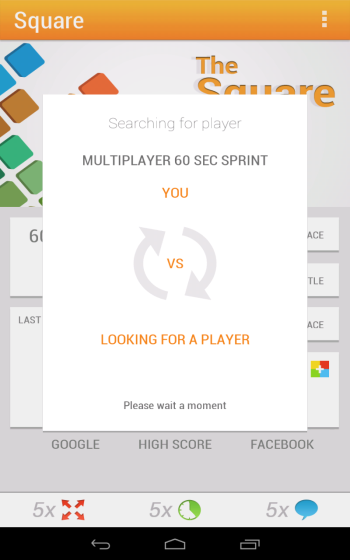 Multiplayer matching android game