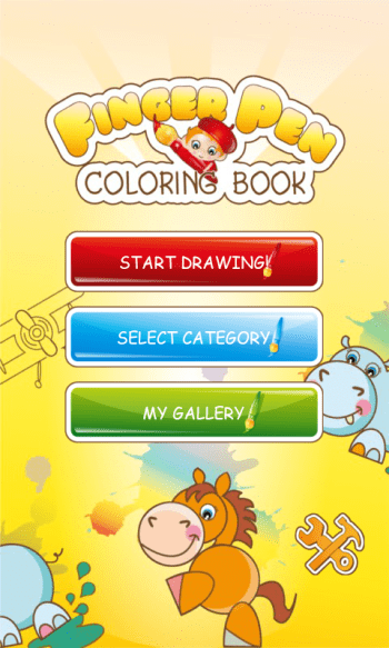 Kids Coloring Book menu