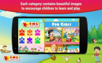 Puzzles for kids Android app