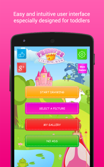 Princess coloring games apps