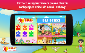 Układanki dla dzieci Android