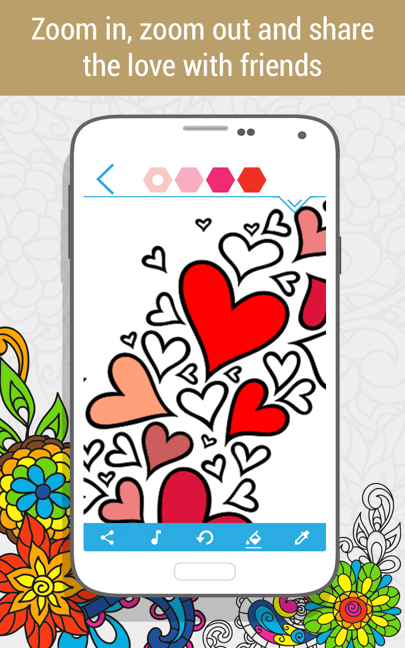 Coloring book software -  Coloring Palette Coloring Book Android
