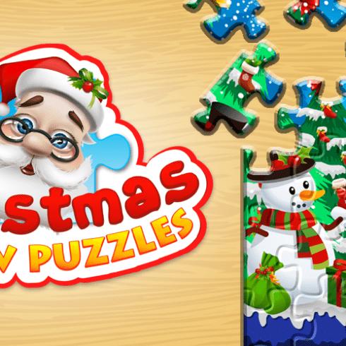Świąteczne puzzle dla dzieci Android iOS